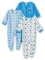 Gerber Onesies Baby Sleep N' Play Footed Sleepers - Monster Blue