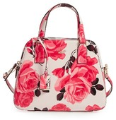 Kate Spade Cameron Street Roses - Little Babe Leather Satchel - Pink