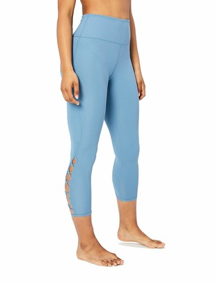 "Core 10 Women's Lattice 7/8 Yoga Crop 24"" Leggings"