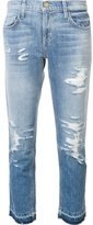 Current/Elliott 'The Cropped Straight' jeans - women - Cotton/Spandex/Elastane - 24