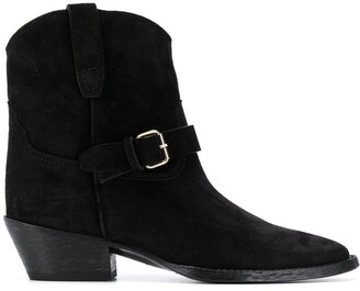 Saint Laurent West buckled boots