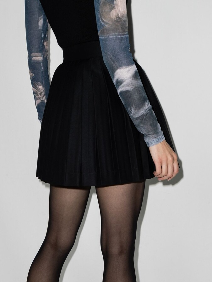 Thumbnail for your product : Charles Jeffrey Loverboy Black Pleated Wool Mini Skirt