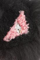 Fendi Bag-Bug Eye Tria Key Chain with Silver Fox Fur