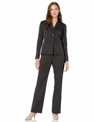 Le Suit LeSuit Women's 3 Button Peak Lapel Mini Pinstripe Pant Suit