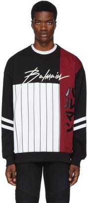 Balmain Multicolor Baseball Sweatshirt