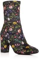 Kenneth Cole Women's Alyssa Floral Print High Block Heel Booties