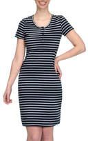 Modern Eternity Striped Nursing Henley Dress