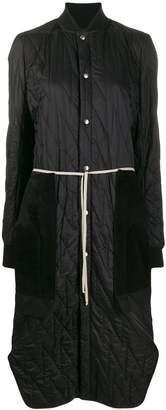Rick Owens long quilted coat