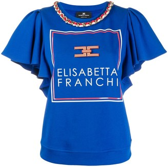 Elisabetta Franchi Chain Detail Top