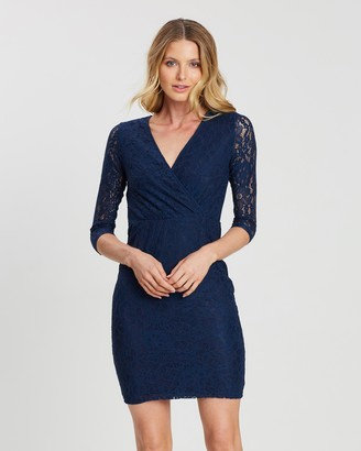 Dorothy Perkins Wrap Lace Bodycon Dress