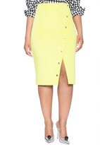 ELOQUII Plus Size Button Front Pencil Skirt