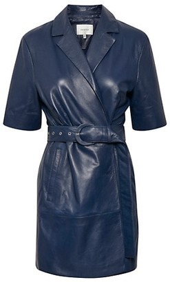 Gestuz Fallyn Leather Blazer Dress
