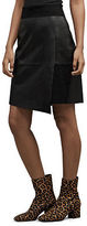 Kenneth Cole Suede And Leather Mini Skirt