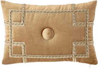 Sweet Dreams Minako Velvet Oblong Pillow with Button Center