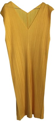 Issey Miyake Yellow Polyester Dresses