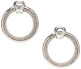 Carole Silvertone Textured Hoop Earrings