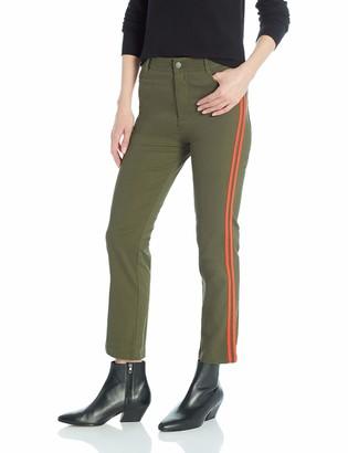 The Fifth Label Women's Symbolic Racing Stripe Khaki Cropped Pants