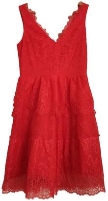 BCBGMAXAZRIA Orange Lace Dress for Women