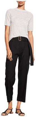 Vince Short Sleeve Raglan Pullover (Heather Grey) Women's Clothing