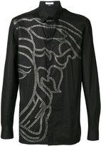 Versace Medusa print button up shirt