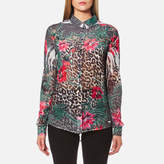 GUESS Women's Long Sleeve Clouiu Shirt