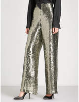 Alice + Olivia Alice & Olivia Racquel wide-leg sequinned trousers