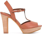 See by Chloe open toe platform sandals - women - Leather/rubber - 41