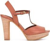 See by Chloe open toe platform sandals - women - Leather/rubber - 41