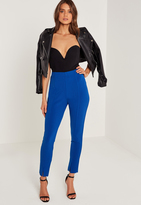 Missguided Skinny Fit Cigarette Trousers Blue
