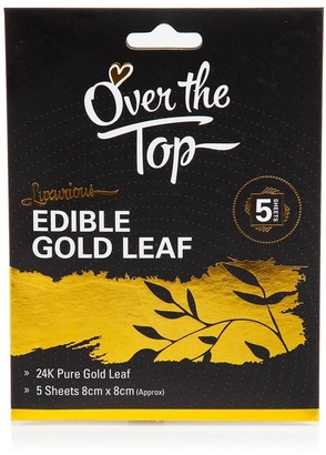 Over The Top Edible 24K Pure Gold Leaf Transfer Sheet Set of 5