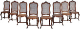One Kings Lane Vintage Louis XV-Style Caned Dining Chairs - Set of 8 - I Dream in Vintage - brown