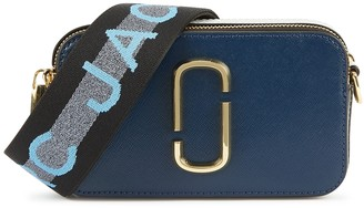 Marc Jacobs The Snapshot Small Blue Leather Cross-body Bag