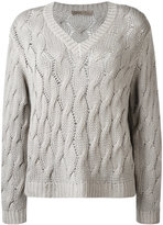 Cruciani cable knit jumper - women - Cashmere - 38