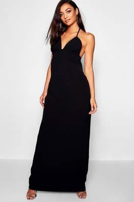 boohoo Tall Halterneck Woven Maxi Dress