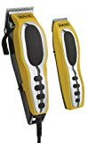 Wahl 79520-3101P Groom Pro Total Body Grooming Kit, high-carbon steel blades, Yellow & Black