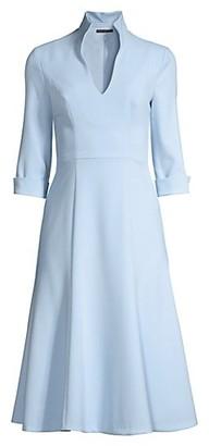 Black Halo Kensington Stand-Collar Fit & Flare Dress