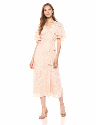 Taylor Dresses Women's Mock wrap Dress with self sash