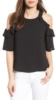 Gibson Petite Women's Cold Shoulder Top