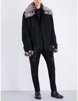 Ann Demeulemeester Fundamental Shearling And Wool-blend Jacket