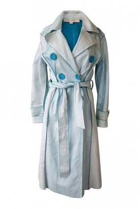 Marc Jacobs Blue Leather Trench Coat for Women