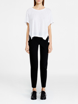 DKNY Pure Cropped Tee With Side Slits
