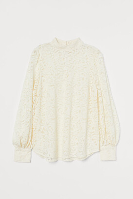 H&M Lace Blouse - White