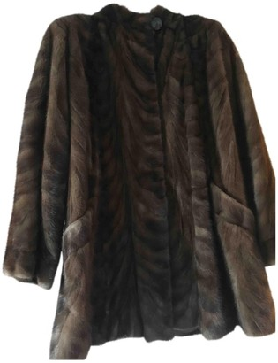 Guy Laroche Brown Mink Coat for Women