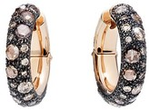 Pomellato Tango Earrings with Brown Diamonds in 18K Rose Gold