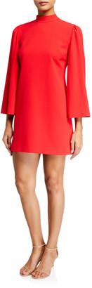 Alice + Olivia Bailey Bell-Sleeve Dress