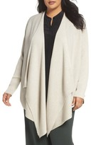 Eileen Fisher Plus Size Women's Angle Front Cardigan