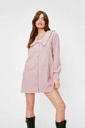 Nasty Gal Womens Wear the Stripe Mini Dress - Beige - 6