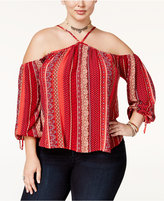 American Rag Trendy Plus Size Off-The-Shoulder Top, Only at Macy's