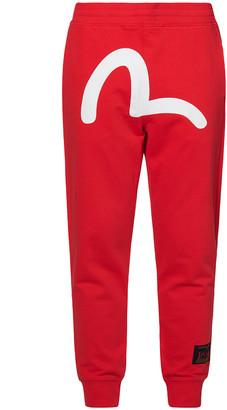 Evisu Seagull And Brand Motto Printed Sweatpants