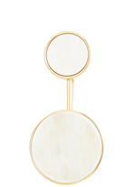 Marni Two-circle horn brooch